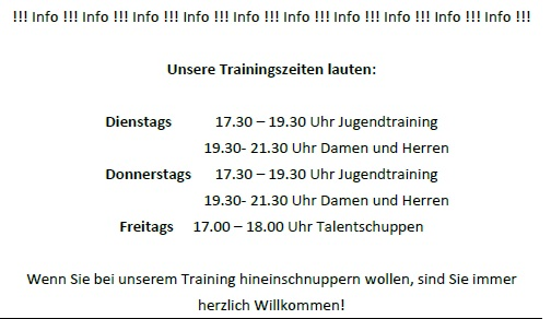 TrainingsInfo