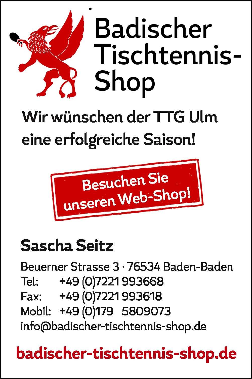 Badischer Tischtennis-Shop